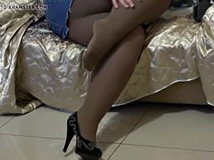 Sexy BBW In the air Pantyhose