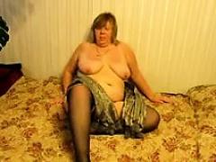 sexy blonde involving sexy stockings