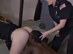 strapping titted milf cops are dealing with a monumental menacing piston
