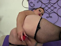 hugetits plumper solo toying her stained pussy